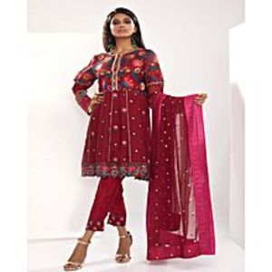 TALAM & KHAADI Women Designer Luxury Lawn Embroidered 3 Piece Dresses