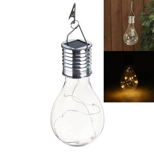 Solar Rotatable Outdoor Waterproof Garden Camping Hanging LED Light Lamp Bulb Clear Cover