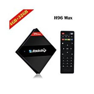 I.TAndroid 7.1 Smart TV Box 4K H96 MAX HEXA Core 4GB Ram & 32GB Storage