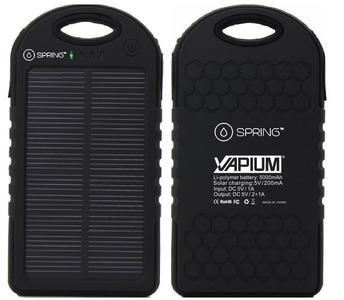 Spring Solar Power Bank 5000Mah Portable Mobile Charger