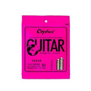 Acoustic Guitar String Set Durable Hexagonal Core Bronze Bright Tone String