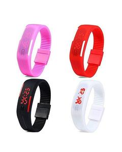 Pack of 4 - LED Watch For Boys & Girls