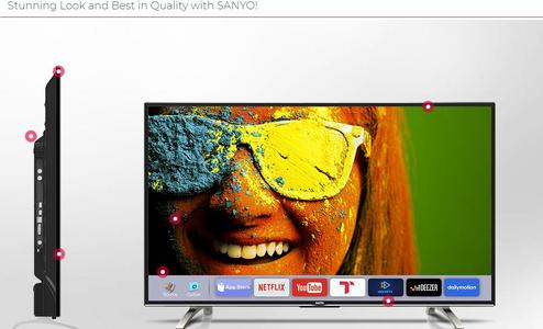 LED SANYO 32 INCH S7000 (SIMPLE) 80cm (32)  LED HDTV WITH BACKLIT  PANEL