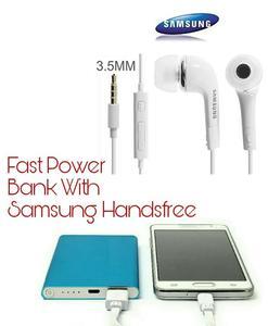 Power Bank 12000 mAh - With Samsung Handsfree - For iPhone Samsung  - Ultra Thin Aluminium Polymer -
