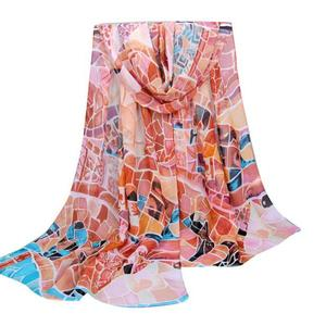 Fashion Women Printing Long Soft Wrap Scarf Ladies Shawl Chiffon Scarves
