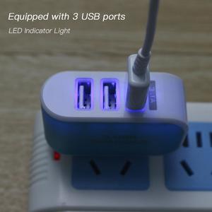 Universal 3 Ports USB Wall Charger Home Travel AC Charger Adapter US-Plug for Tablets Smartphones