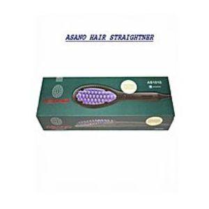 CasanovaAs-1010 Hair Straightening Ceramic Brush - Black & Purple