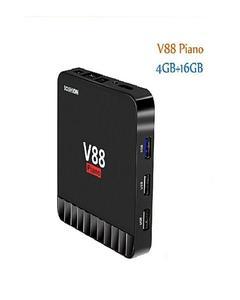 V88 Piano Android Smart TV Box Quad Core 4GB+16GB