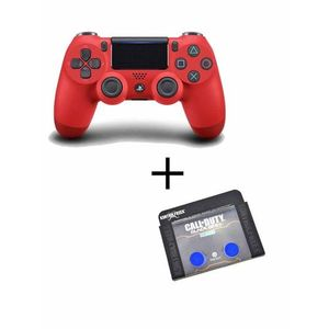 Playstation 4 Dualshock Controller With Analog Extender - Red And Blue
