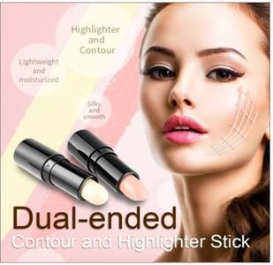 Brand Double Head 3D Highlighter Stick Bronzer Face Makeup Concealer Pen Foundation Stick Cream Texture Contour Pencil