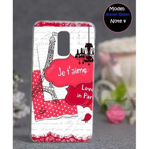 Xiaomi Redmi Note 4 Mobile Cover Eiffel Tower Style - Pink