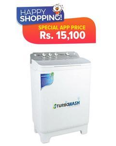 Kenwood KWM-1012 - Semi Automatic Washing Machine - 10 kg - White