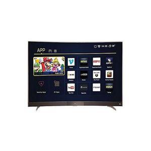 P3 - Curved Smart LED TV - 49 - Black