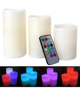 Luma Candles With Remote Control - Multicolor