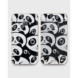 Samsung Galaxy J1 2015 (J100) Skin Wrap With Front Back And Sides Graffiti Panda Pattern-1Wall606