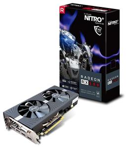Sapphiree Radeon Nitro+ RX 580 4GB GDDR5 11265-07-20G Dual HDMI / DVI-D / Dual DP OC With Backplate (UEFI) PCI-E Graphics Card (NEW - With Open Box)