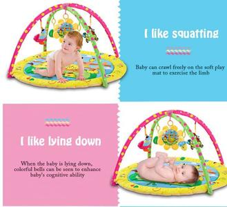 Baby Soft Play Mat Blanket Carpet with Hanging Toys