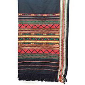 Narmo GudazGreen & Red Handmade Tharri / Wadera Shawl for Unisex