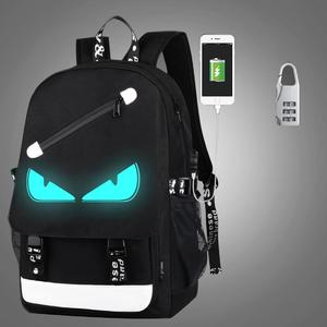 Multi-Function Large Capacity Oxford Cloth Demon Backpack Casual Laptop Computer Bag with External USB Charging Interface & Security Lock for Men / Women / Student, Size: 46*30*14cm