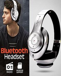 Wireless Bluetooth Headphones - Silver