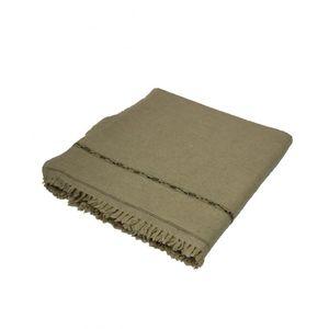 DesiBazaar Brown Wool Handmade Shawl for Men