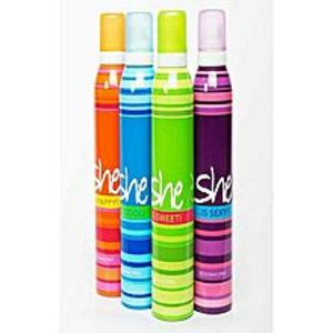 She Collection Bold Pack of 4 Body Spray  for Women