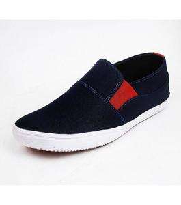 Blue & Red Canvas Sneakers for Men