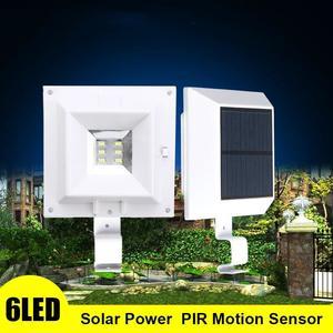 6LED Solar Powered Outdoor Garden Paht Yard Wall Fence Pathway Lamp Gutter Light