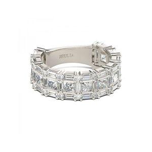 Jeulia Princess White Sapphire Ring