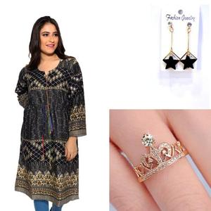 Dija's Women Winter Collection Kurti Jewelry Bundle - Pack of 7-7
