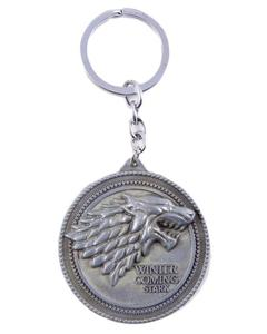 Game of Thrones House of Stark Winter is Coming Keychain - Silver