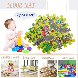 Kids Baby Crawling Car City Traffic Game Floor Play Mat Rug Carpet Room Foam