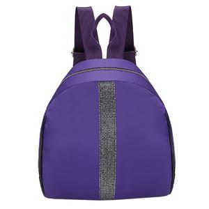 Fashion Women Students Nylon Hit Color Shoulder Bag School Bag Tote Backpack