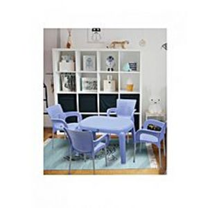 BossPack of 4 - Sky Blue Plastic Res Relaxo Chairs