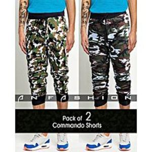AN FashionPack Of 2 - Commando Camouflage Shorts For Men