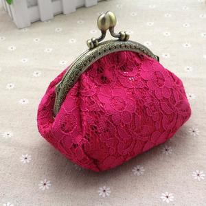 Women Lady Retro Vintage Lace Small Wallet Hasp Purse Clutch Bag Hot