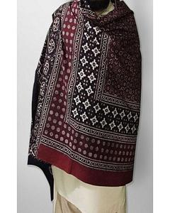 Multicolor Cotton Block Printed Sindhi Ajrak Fb-0366