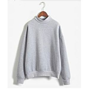 Abdul Collection Ab Autumn Winter Pullover Loose Fleece Sweat-Shirt-Grey