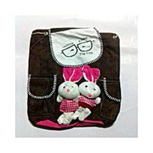 Living Style Dark Brown Bunny School Bag