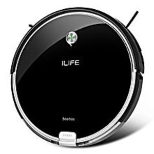 iShow Plus Robotic Vacuum Cleaner Cordless Sweeping Cleaning Machine Self-recharging Robot US Plug - Black