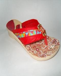 Red Rexiene Flip Flops for Women