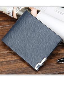 Blue Original Leather Wallet for Men