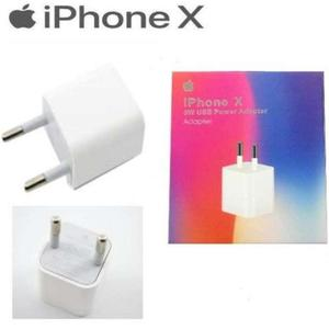 Original Iphone X 5W USB Power Adapter Fast Charger + Cable - White
