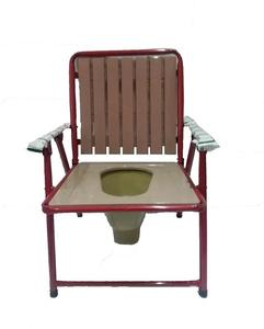 Commode Chair Fold able With Plastic Seat & Back