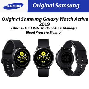 Original Samsung Galaxy Watch Active (2019) Black Fitness, Heart Rate Tracker/ Stress Manager/ Blood Pressure Monitor
