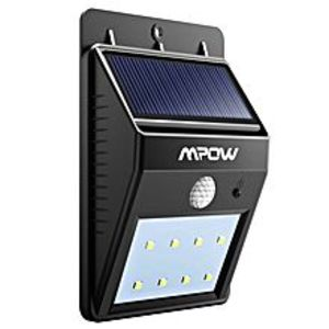 Mpow 8 Led Bright Solar Powered Security Light With Motion Sensor