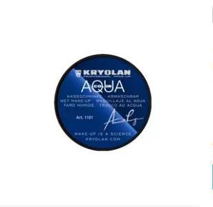 Kryolan AQUACOLOR Glycerin-based compact Make-up EYE LINER - Black