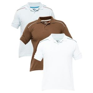 Fashion Café Pack of 3 - Multicolour Cotton Polo Shirt for Men