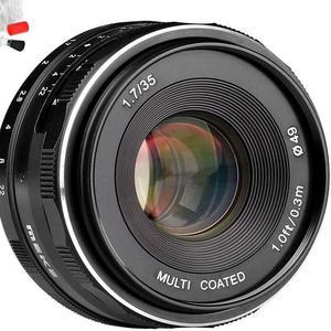 Meike 35mm F1.7 Manual Focus Large Aperture Prime Fixed Metal Lens for Fujifilm Cannon etc APS-C Mirrorless Cameras