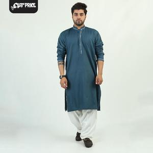 Cut Price Kurta Luxury for Men Stitched Mid Green